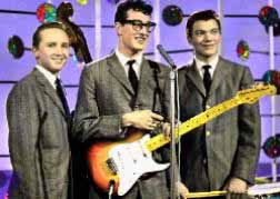 Buddy Holly and the Crickets na een opname in de BBC-studio